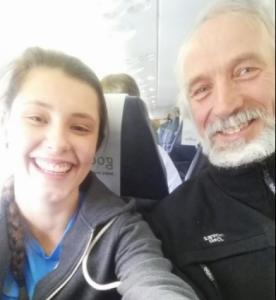 Klar for avreise, Terje er alltid med på en selfie!
