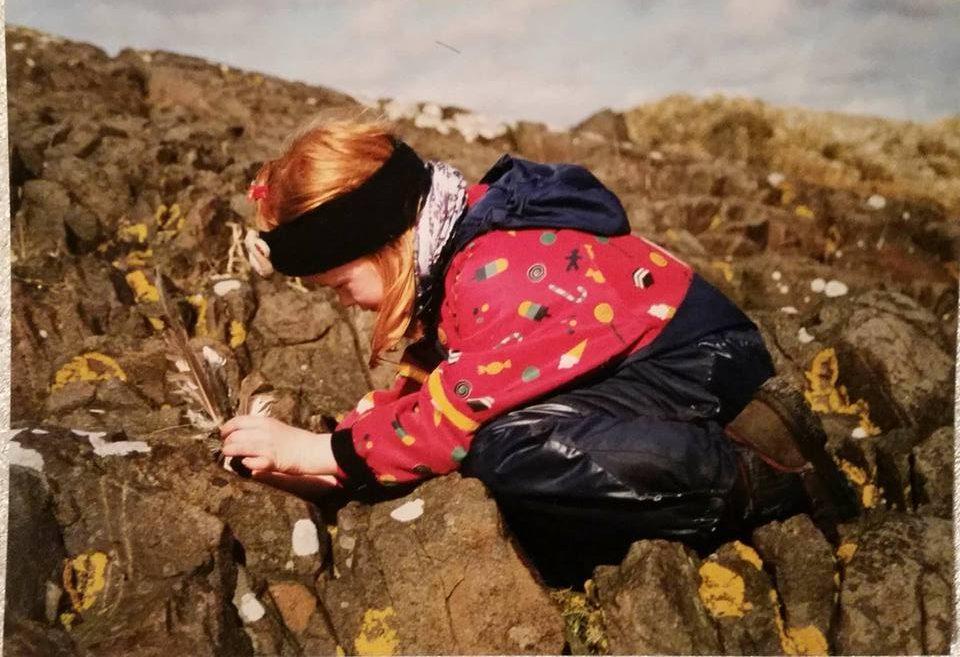 Dette er meg som liten, allerede da interisert i hva som skjer med naturen.