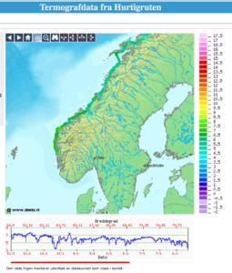 Termografdata fra Hurtigruta