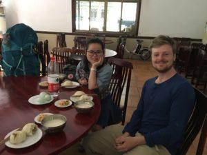Masterstudent Yao tok godt vare på oss i Chengdu.